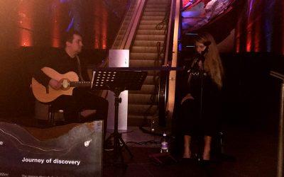 AKLASS duo singer and guitarist perform at LONDON HISTORY MUSEUM.